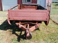 Chevy pick-up bed utility trailer. Comes with two sets