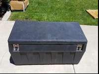 "Tool box, 54""X22""X18"" This box fits down inside the"