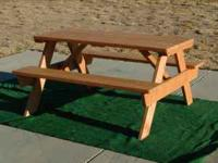 Newly built and very sturdy 6 ft picnic table. Only