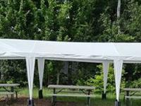 Selling 3, 6 ft. folding picnic tables with benches