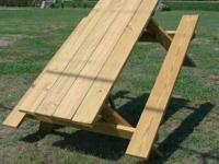 6' STANDARD TABLE - $100  8' TABLE WITH WIDER BENCHES -
