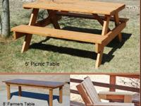 I build outdoor furniture and specialize in building
