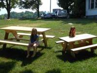 Picnic tables for sale.Large 6 foot long $85. Small 4