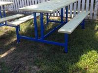 Commercial grade 6 foot long picnic table with  2x6