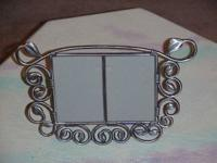 Picture Frame , Metal Duo Frame , Scroll Leaves ,