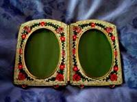 Lovely micro mosaic double picture frame with
