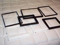 About 20 assorted picture frames, some wood, metal etc.