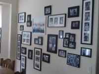 Redecorating - selling 20 black pic frames, all sizes.