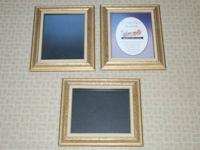 (3) Plan Milles 8x10 frames, no back clips for one