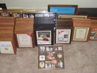 PICTURE FRAMES, WOOD, GLASS, ASSORTED, ONE HUNDRED ONE