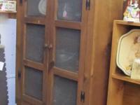 Pie Safe $150 Lighted Curio Cabinet $100 Hutch $200