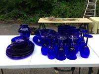 I have a nice set of Pier 1 Cobalt blue dishes that