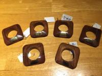 This set of six (6) Pier 1 Imports Wood Grain Square