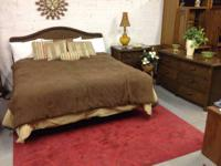 PIER 1 KING DIMENSION WICKER BEDROOM SET. $600. This