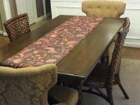 Table and 4 chairs from Pier 1. Table measures 36x60