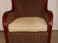 This is a very nice Wicker King Armchair from Pier 1.