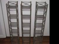 Three metal CD racks from Pier 1 Imports. Each is
