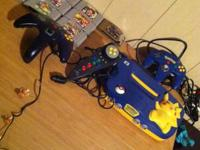 Selling my pikachu nintendo 64, has all hook ups, the