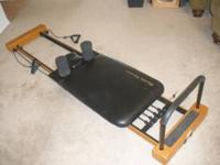 This is a Pilates Premier exercisce machine. This
