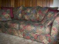 Comfortable pillow-back couch for sale - includes all