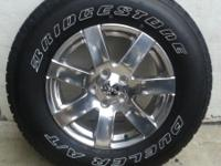 Five (5) practically new OEM upgraded wheels/tires