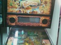 THE FLINTSTONES PINBALL MACHINE EXCELLENT CONDITION