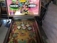 1968 William's cabaret pinball machine. The machine is