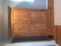 Large Pine Armoire may be used as a media unit or