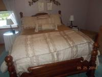 Pine Bedroom Furniture Set (Queen) including headboard,