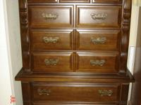 Solid Wood Construction Pine Bedroom Suite. Full Size