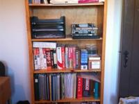 We are selling three pine bookshelves ($25 each).  All