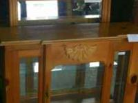 Cabinet is now $100 Mirror is now $50 Great Price on