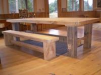 We make tables in a variety of styles and woods.