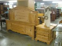 Knotty Pine Bedroom set, featuring a King Size Bed,