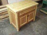 New log bathroom vanity for sale. Overall size is 40""