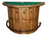 Rustic Poker Table/ Bar Made of solid pine. Half moon