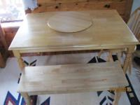Type:KitchenType:Tablesolid pine table with 4 chairs,