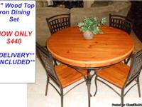 Pine Style Table & Wood Side Chairs Here is a