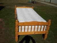 Very cute twin bed. Very sturdy and includes a very