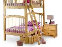 For sale is a nice set of pine bunk beds purchased from