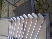 Good used set of ping eye 2 green dot golf clubs 3 -