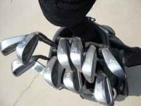 selling a set of ping eye 2 black golf clubs and a