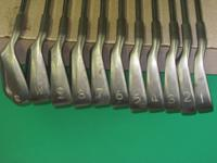 Set of Karsten IIIA Ping irons, with Ping Eye2 3 wood.