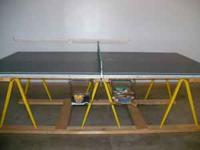 9' x 5' on wooden frame Includes paddles & balls From a