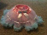 I am selling this pink and blue petti tutu with tags
