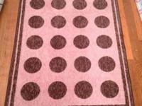 3x5 pink and brown polka dot rug in great shape. $20
