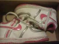 I have a pair of toddler girl NIKEs for sale. They are