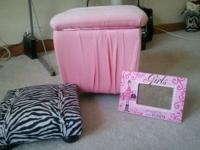 The Pink stool and zebra stool are in great condition.