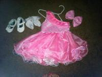 Pink pageant dress Size 6-18 months One strap dress
