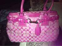 Pink Coach Purse Great Condition  Location: Arden